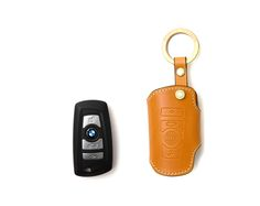 BMW 5-7 series smart.  Handmade Buttero Leather Smart Key Cover/Case   -Handmade by: Custom Republic  -Leather: Vegetable leather from Conceria Walpier & Vera Pelle -Attachment pieces: 18K gold satin coating - Colors: natural, yellow, orange, brown, navy, and camouflage -Thread & Stitching: Serafil (from Germany)  -Measurement: 5.3 cm x 13.5 cm