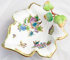 Porcelana Herend Victoria padrão Grande Fruteira De Folha 7527/vbo
