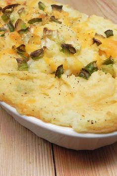 """Garlic Mashed Potato Casserole """"A great make-ahead recipe, and a nice amount of extra flavor instead of your standard mashed. Potatoe Casserole Recipes, Mashed Potato Recipes, Potato Dishes, Casserole Dishes, Bean Casserole, Hotdish Recipes, Garlic Mashed Potatoes, Cooking Recipes, Healthy Recipes"""