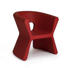 Pal Armchair By Karim Rashid, from Vondom Matte Red