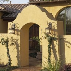 Yellow Stucco Garden Walls Design Ideas, Pictures, Remodel, and Decor - page 2