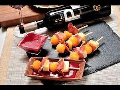 Brochetas de melón con jamón, queso y uvas al estilo de Sonia Ortiz por Cocina al natural