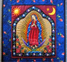 Our Lady of Guadalupe Quilt // Wall Quilt // by CherryPicks,
