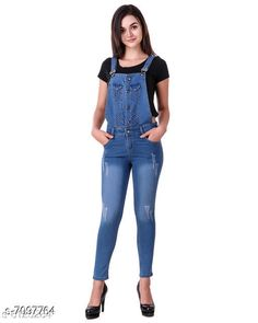 Checkout this latest Jumpsuits Product Name: *Ansh Fashion Wear Women's Denim Dungarees* Fabric: Denim Multipack: 1 Sizes:  S, M, L (Bust Size: 32 in, Length Size: 32 in, Waist Size: 32 in)  XL Easy Returns Available In Case Of Any Issue   Catalog Rating: ★4.3 (1760)  Catalog Name: Comfy Graceful Women Jumpsuits CatalogID_1132867 C79-SC1030 Code: 166-7097764-5721