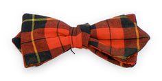 Buffalo Plaid Vintage Bow Tie