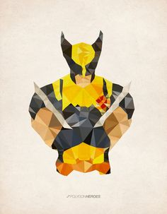 Wolverine - Polygon Heroes by James Reid