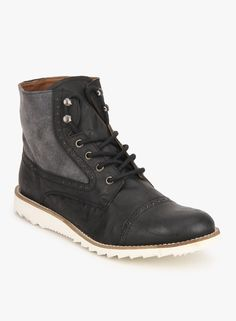 Knotty Derby | Colin Tc Black Brogue Boots | Men | Online Shopping India | #staynaughty