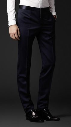Burberry Prorsum Virgin Wool Dress Trousers