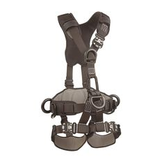 DBI-SALA,ExoFit NEX 1113370 Full Body Black Out Rope Access/Rescue Harness, 5 Alum.D-Rings, Belt W/ Pad/Side D-Rings, Locking QC Leg Straps, Small, Blue/Grey