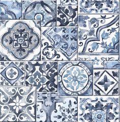 "Marrakesh Mosaic 33' x 20.5"" Geometric Wallpaper"