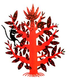 Monkey on a tree screenprint by katherinamanolessou on Etsy, £43.00
