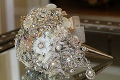 Custom created brooch bouquets – Jeweled Bouquets by Danielle Aspinwall Brooch Bouquets, Fun Stuff, Our Wedding, Wedding Inspiration, Jewels, Detail, Create, Ideas, Fun Things