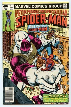 Rare Comic Books, Comic Book Covers, Comic Books Art, Comic Art, Book Art, Spiderman Man, Amazing Spiderman, Caricature, Meteor Man
