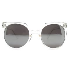 Quay Australia Give And Take Sunglasses in Clear/Silver