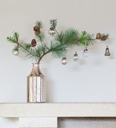 A super-realistic, very good value pine needle spray with tiny pine cones woven onto the branches. Use one in a single stem vase or in a centrepiece arrangement value, Pine Needle Spray Natural Christmas, Noel Christmas, Simple Christmas, All Things Christmas, Winter Christmas, Vintage Christmas, Christmas Wreaths, Christmas Crafts, Minimalist Christmas Tree