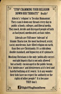 """Mocking Christianity is the only """"politically correct"""" bigotry sanctioned today!"""
