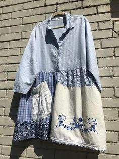 The Melody Frock: Upcycled plus size 1X-2X, romantic shabby chic, sustainable clothing, wearable art, boho chic,, Melbury Road