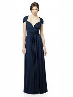 Dessy Long Twist Wrap Dress - available at www.katherineallenbridal.co.uk