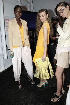 Backstage at Tracy Reese Spring 2013