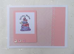 Polaroid style handmade card - from Crafty Moo Papercrafts on Etsy