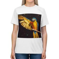 Women's Parrot Triblend T Shirt Crew Neck, Short Sleeves, Unisex, T Shirts For Women, Tees, Fabric, Cotton, Mens Tops, Collection