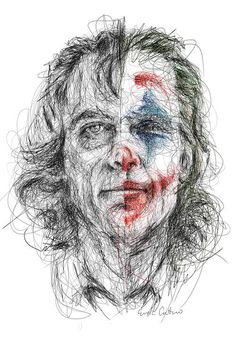 Joker by Erick Centeno is printed with premium inks for brilliant color and then hand-stretched over museum quality stretcher bars. Money Back Guarantee AND Free Return Shipping. Joker Sketch, Joker Drawings, Cool Art Drawings, Art Drawings Sketches, Joker Cartoon, Joker Images, Scribble Art, Cute Couple Art, Joker Wallpapers