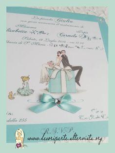 """Tiffany Wedding Invitations Partecipazioni matrimonio """"Tiffany"""""""