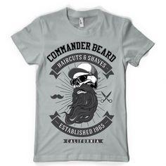 Commander Beard T-shirt design