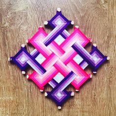 Items similar to Ojo de Dios Eye of God Yarn Mandala Happyness Knot, Created by Reiki Master Teacher on Etsy Mandala Art, Mandala Painting, Mandala Design, God's Eye Craft, Dream Catcher Mandala, String Art Templates, Gods Eye, Floor Art, Seashell Crafts
