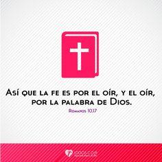 Imagen: Así que la fe es por el oír, y el oír, por la palabra de Dios - Logos C.D.A - Expresando Palabra de Vida