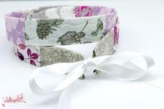 Patchwork Gürtel weiß, lila von Lieblingsmanufaktur: Farbenfrohe Loop Schals, Tücher und mehr auf DaWanda.com