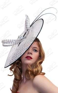Couture Kentucky Derby Fascinator Polka Dot by ffortissimo on Etsy, $179.00