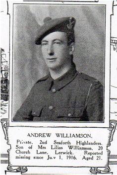 Andrew Williamson, 2nd Seaforth Highlanders