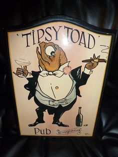 TIPSY TOAD PUB SIGN PLAQUE PICTURE | eBay