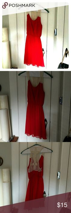 Red dress Light airy red dress perfect for summer and warm weather! Francesca's Collections Dresses Maxi