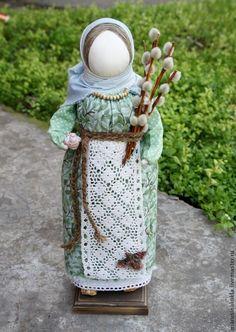 """Кукла """"Вербница"""" - зеленый,верба,вербное воскресенье,Пасха,подарок на Пасху"""
