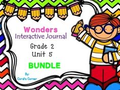 Coral's Corner has heard your feedback and is happy to present it's FIRST BUNDLE!  This 2nd grade interactive journal BUNDLE is aligned to Common Core and to the McGraw Hill Wonders series. It contains all weeks in Unit 5-- Over 40 journal entries allow students to be engaged while reading the text!!