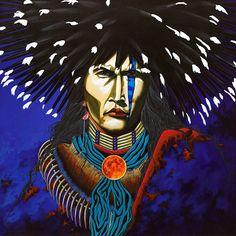 """One Who Brings The Thunder"" by James D. Tsoodle(Kiowa)"