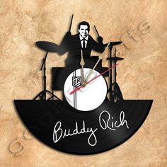 Buddy Rich Wall Clock Vinyl Record Clock via GeoArtCrafts. Click on the image to see more!