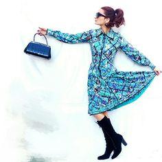 Spotted while shopping on Poshmark: Emilio Pucci Vintage Long Sleeve Pleated Day Dress! #poshmark #fashion #shopping #style #Emilio Pucci #Dresses