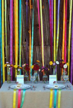 Colourful party decoration Colorful Party, Ideas Para, Diy, Decoration, Events, Decorating, Bricolage, Dekoration