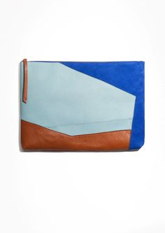 & Other Stories | Large Colour Blocked Leather Clutch