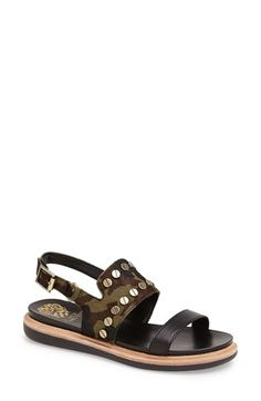 Vince Camuto 'Hennah' Leather Camo Sandal #Nordstrom.