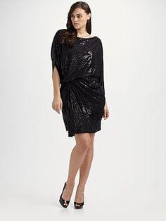 David Meister, Salon Z - Draped Sequin Dress