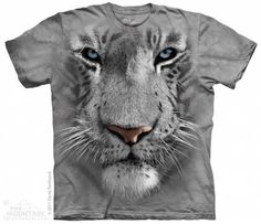 The Mountain-Shirts Tiere The Mountain Shirt - White Tiger Face