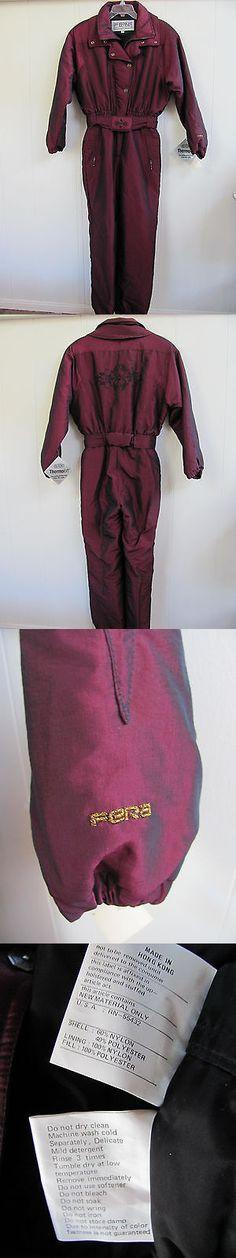 Snowsuits 62178: Fera Skiwear Metallic Burgundy Snowsuit - Thermoloft - Size Ladies 10 - New Nwt -> BUY IT NOW ONLY: $51.99 on eBay!