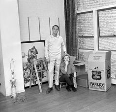 Married American actors Paul Newman and Joanne Woodward pose next to several moving boxes in ther Street home on an episode of the CBS celebrity interview program 'Person to Person,' New York, New York, December (Photo by CBS Photo Archive/Getty Images) Classic Hollywood, Old Hollywood, Hollywood Stars, Paul Newman Joanne Woodward, Fun Facts About Yourself, Men Are Men, Hollywood Couples, Movie Facts, Moving Day