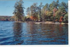 Loon Lake in Chestertown, NY - this picture shows the lagoon at the end of our cabin community.