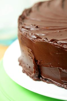 Perfect recipe for devil's food cake, a great base for personal recipe, and ganache tastes more like butter cream frosting -- need to find different ganache recipe for this