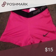 Nike pros Worn a little while but look brand new!! Nike Shorts